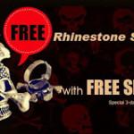 Free Rhinestone Skull Rings
